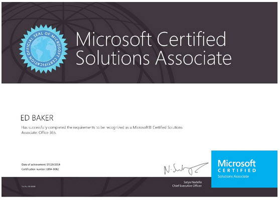 Office 365 Mcsa Post Exam Feedback Blogg Ed